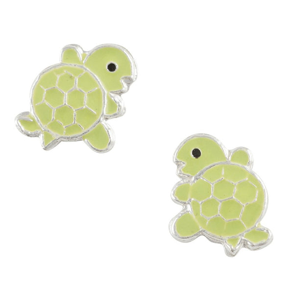 Enamel Turtle Post Earring