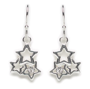 Crystal Star Trio Earring