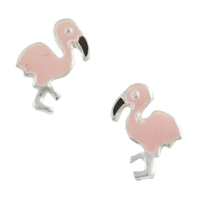 Enamel Flamingo Post Earring