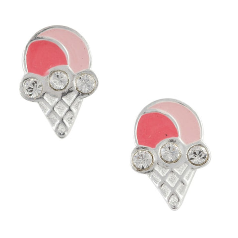 Ice Cream Cone Post Earrings