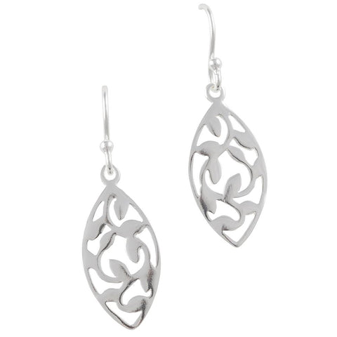 Oval Leaf Earring