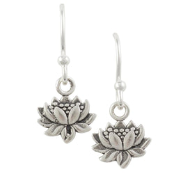Tiny Lotus Earring