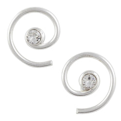 Crystal Clear Swirl Post Earring