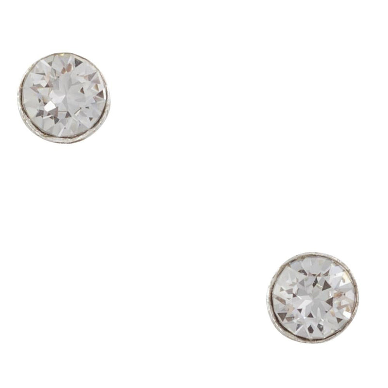 Tiny Crystal Clear Post Earring