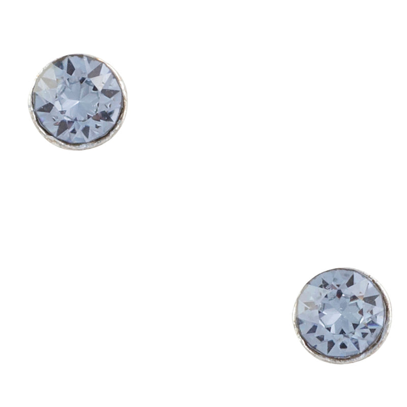 Tiny Crystal Blue Post Earring
