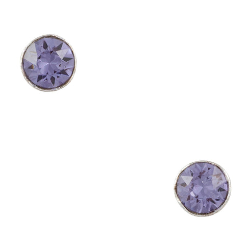 Crystal Purple Post Earring