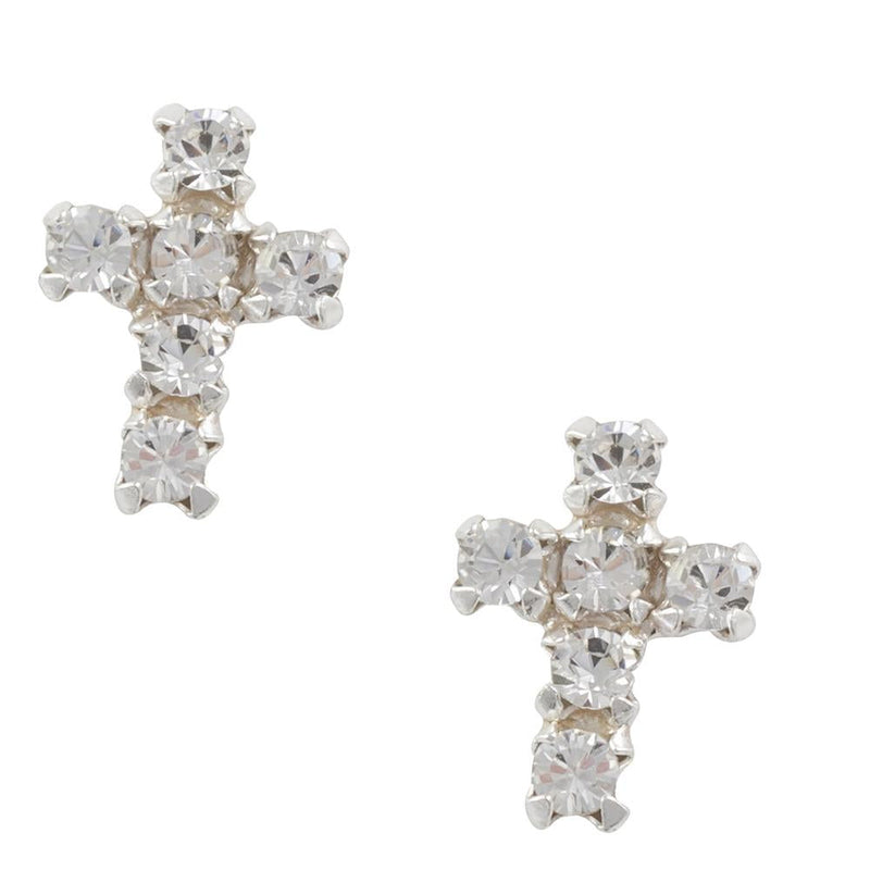 Crystal Cross Post Earring