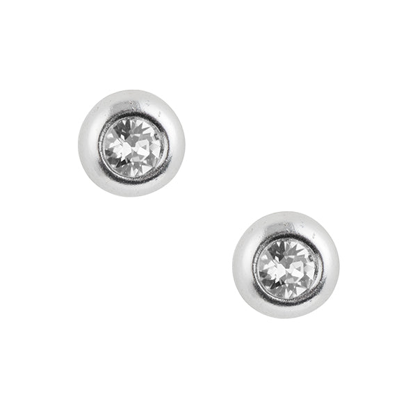 Crystal Dome Post Earring