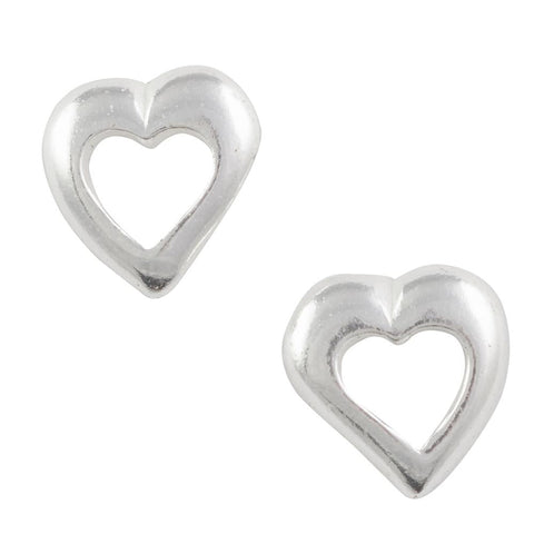 Open Heart Post Earring