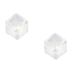 Crystal Cube Post Earring Aurora