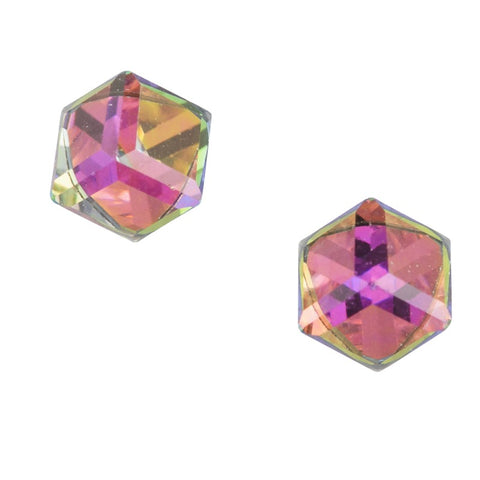 Crystal Cube Post Earring