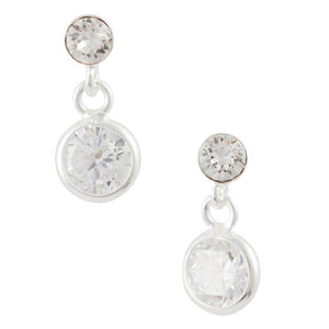 CZ Drop Post Earring