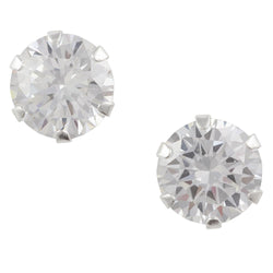 Cz Post Earring - 8mm