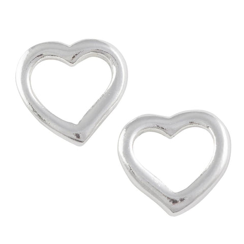 Open Heart Lg Post Earring