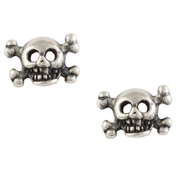 Skull And Bones Post Earring