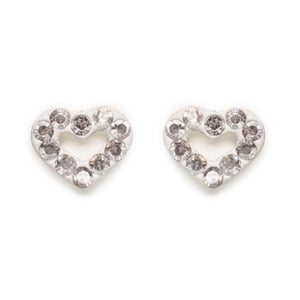 Crystal Pave Open Heart Post Earring