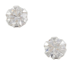 Cz Post Earring - 4mm