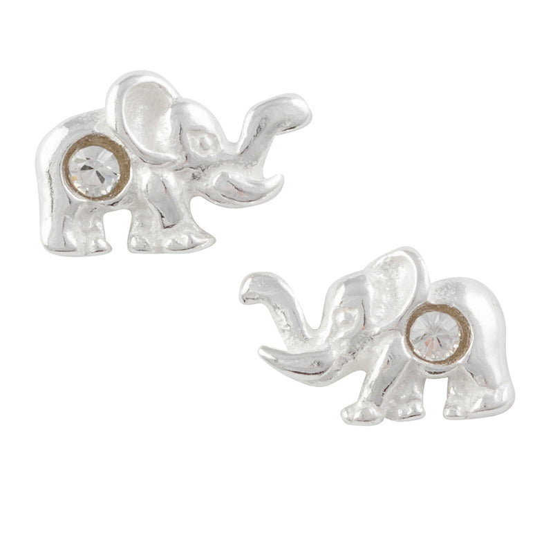 Crystal Elephant Post Earring