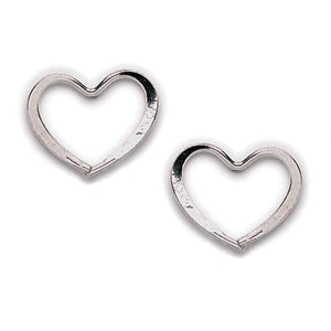 Wire Heart Post Earring