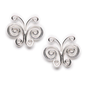Curlique Butterfly Post Earring
