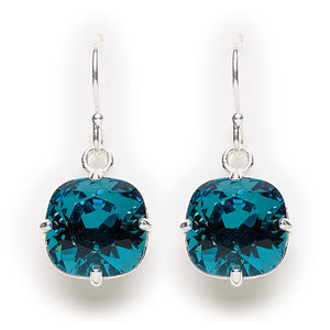 Indicolite Crystal Earrings