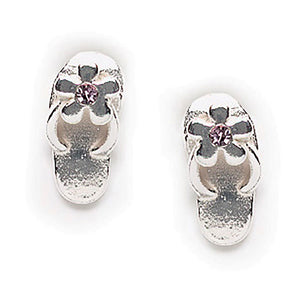Crystal Sandal Post Earring