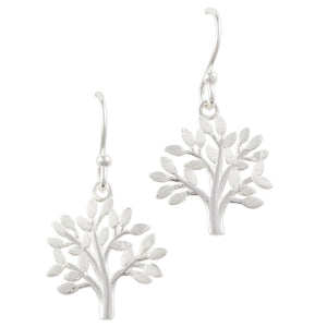 Brushed Tree Earring