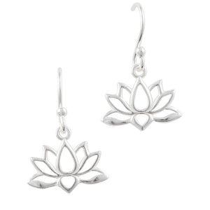 Cutout Lotus Earring