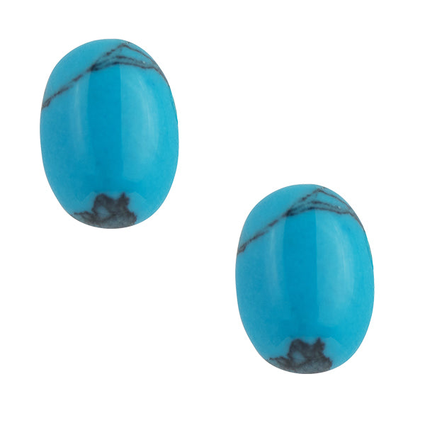 Oval Turquoise Post Earring