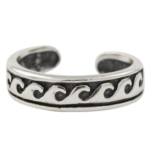 Waves Toe Ring