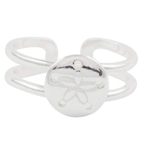 Sand Dollar Toe Ring
