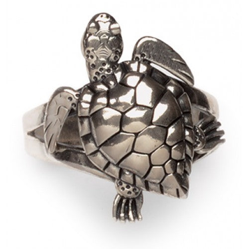 Lucky Sea Turtle Ring