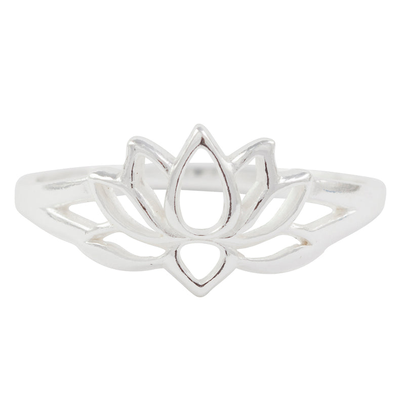 Cutout Lotus Ring