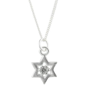 CZ Star of David Necklace