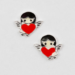 Angel Heart Post Earring