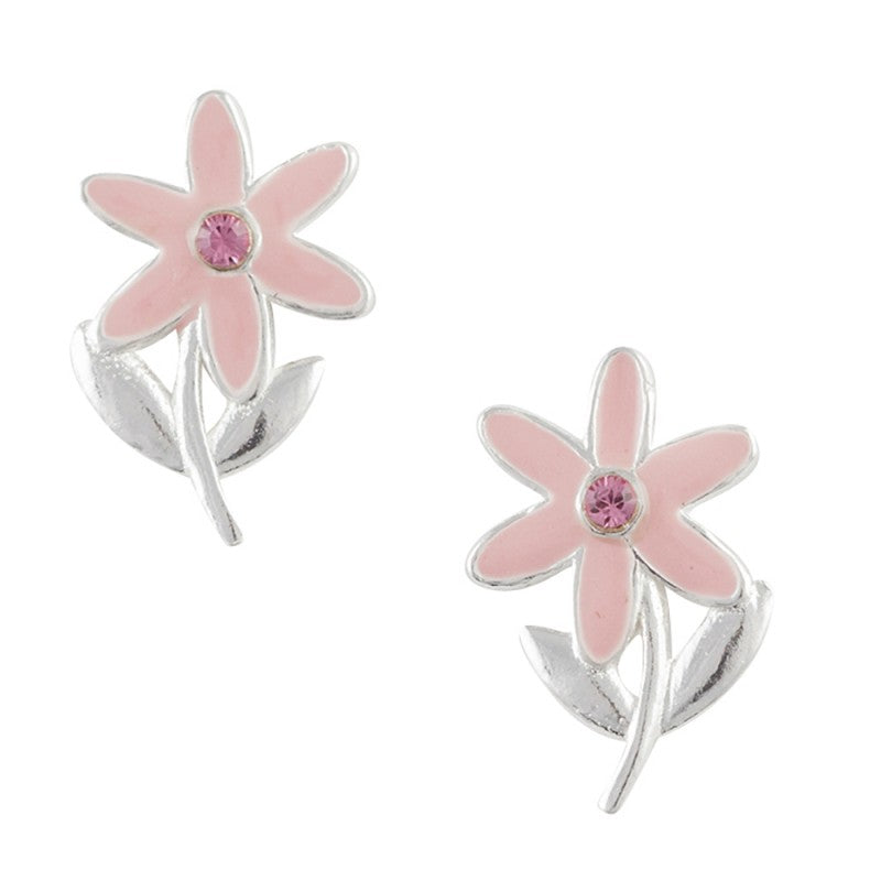 Long Stemmed Flower Post Earrings
