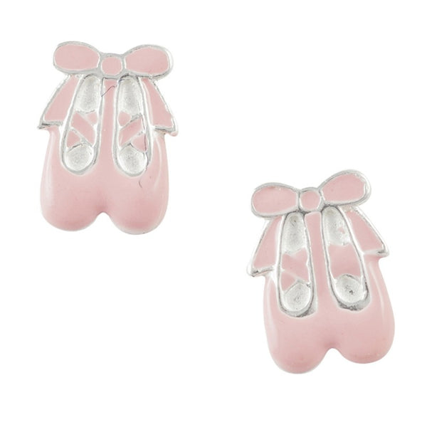 Enamel Ballet Slippers Post Earring