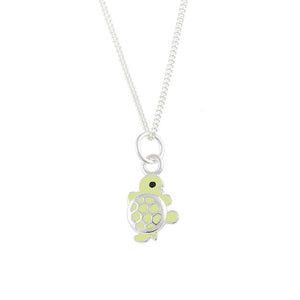 Enamel Turtle Necklace