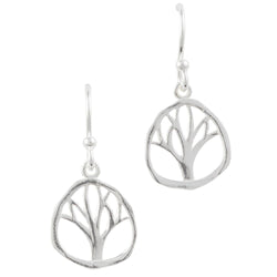 Hammered Tree Earring