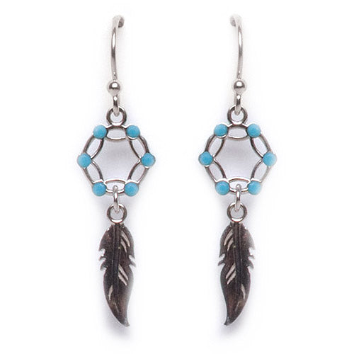 Turquoise Dreamcatcher Earring