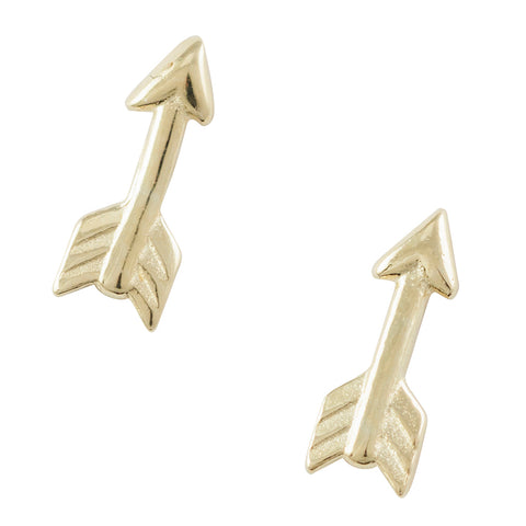 Gold Plated Arrow Post Earring
