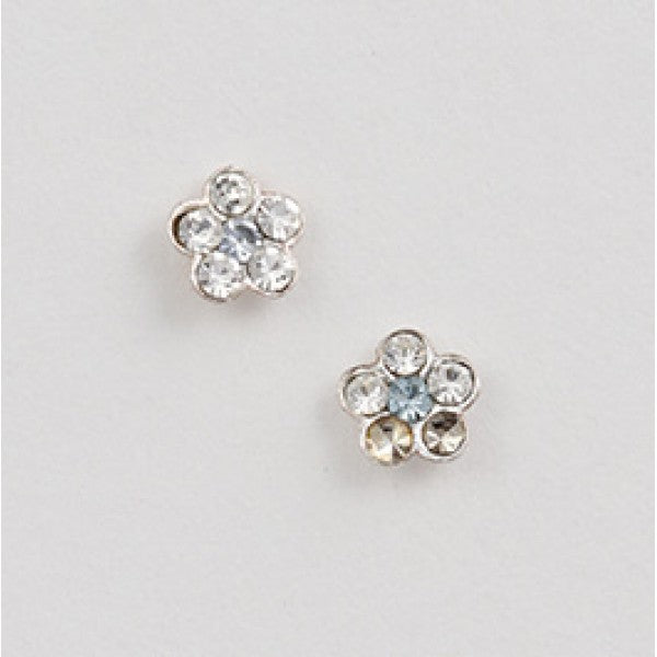 Tiny Crystal Flower Post Earring