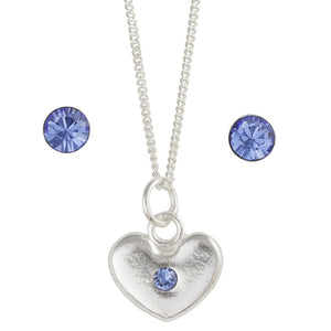 September Crystal Birthstone Earring And Necklace Set