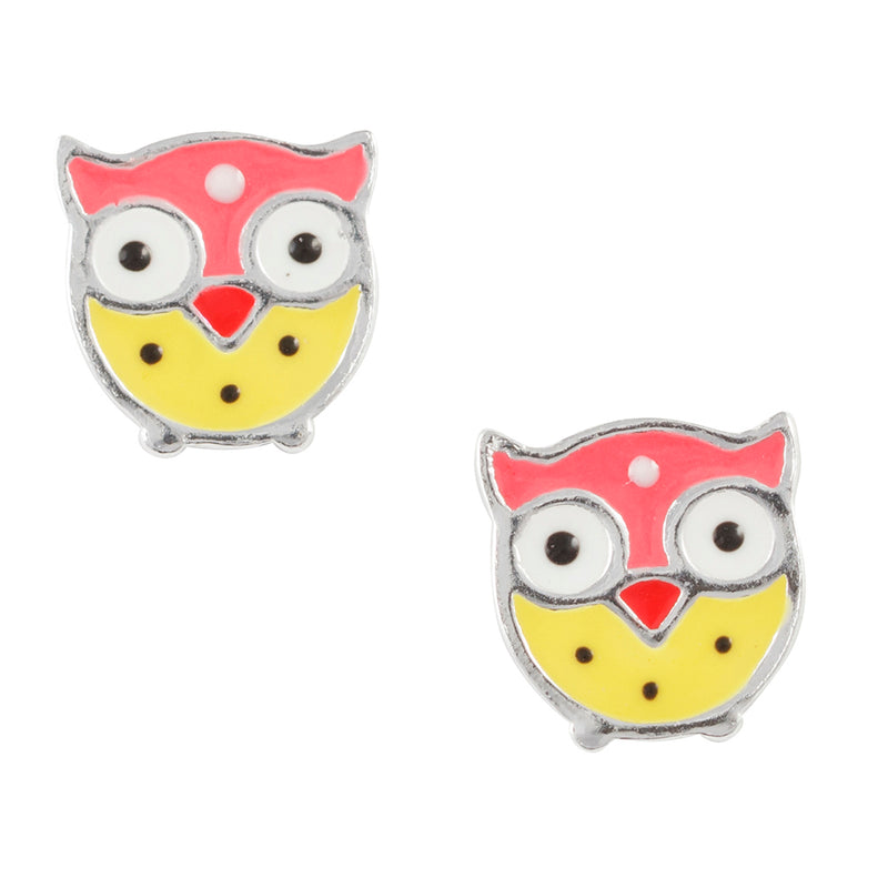 Spotted Owl Post Earring
