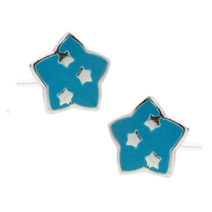 Blue Starry Star Post Earring
