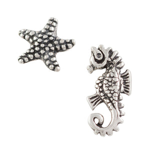 Starfish & Seahorse Post Earring