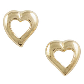 Gold Plated Small Heart Post Earring