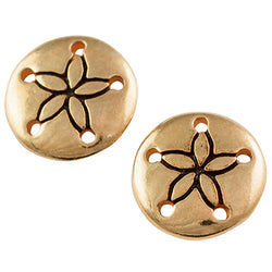 Gold Plated Sand Dollar Post Earring