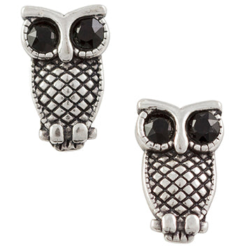 Crystal Owl Post Earring