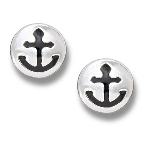 Anchor Coin Post Earring